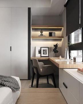 二居 白领 收纳 旧房改造 80后 小资 卧室图片来自今朝小伟在小户型书房设计,恰到好处的的分享