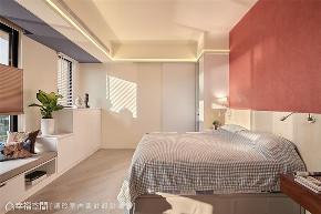 装修设计 装修完成 混搭 卧室图片来自幸福空间在126平,围塑美式混搭休闲风的分享