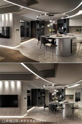 装修设计 装修完成 现代风格 客厅图片来自幸福空间在198平,用同心圆构筑温馨舒适宅的分享