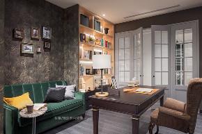 张馨 瀚观 室内装饰 装修 设计 书房图片来自张馨/瀚观室内装饰在进口建材商老板的轻奢美宅的分享