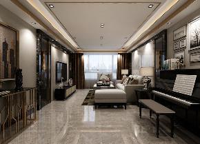 简约 二居 客厅图片来自晋级装饰官方在135平现代轻奢的分享