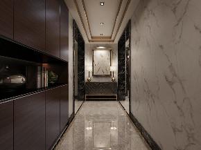 简约 二居 玄关图片来自晋级装饰官方在135平现代轻奢的分享