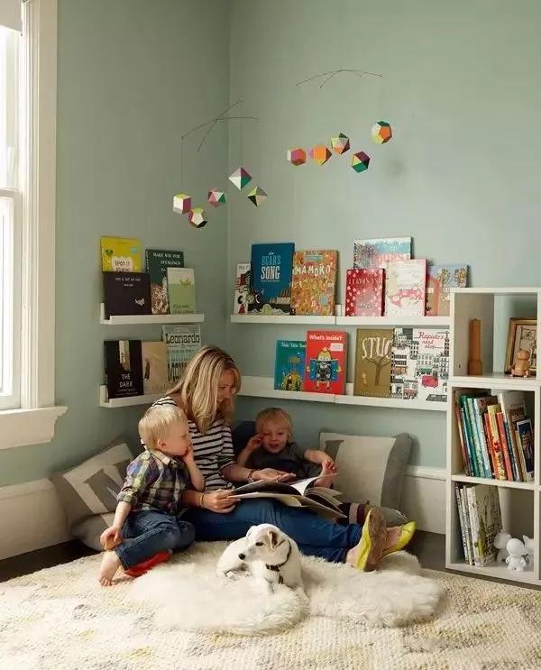 书房 阅读区 儿童房打造 学习室 二居 80后 旧房改造 收纳图片来自沈阳恩林好管家在打造儿童阅读角的分享