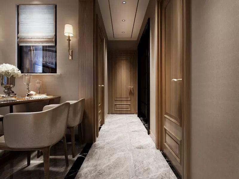 轻奢 三居 小资 餐厅图片来自晋级装饰官方在中海和平之门轻奢风格的分享