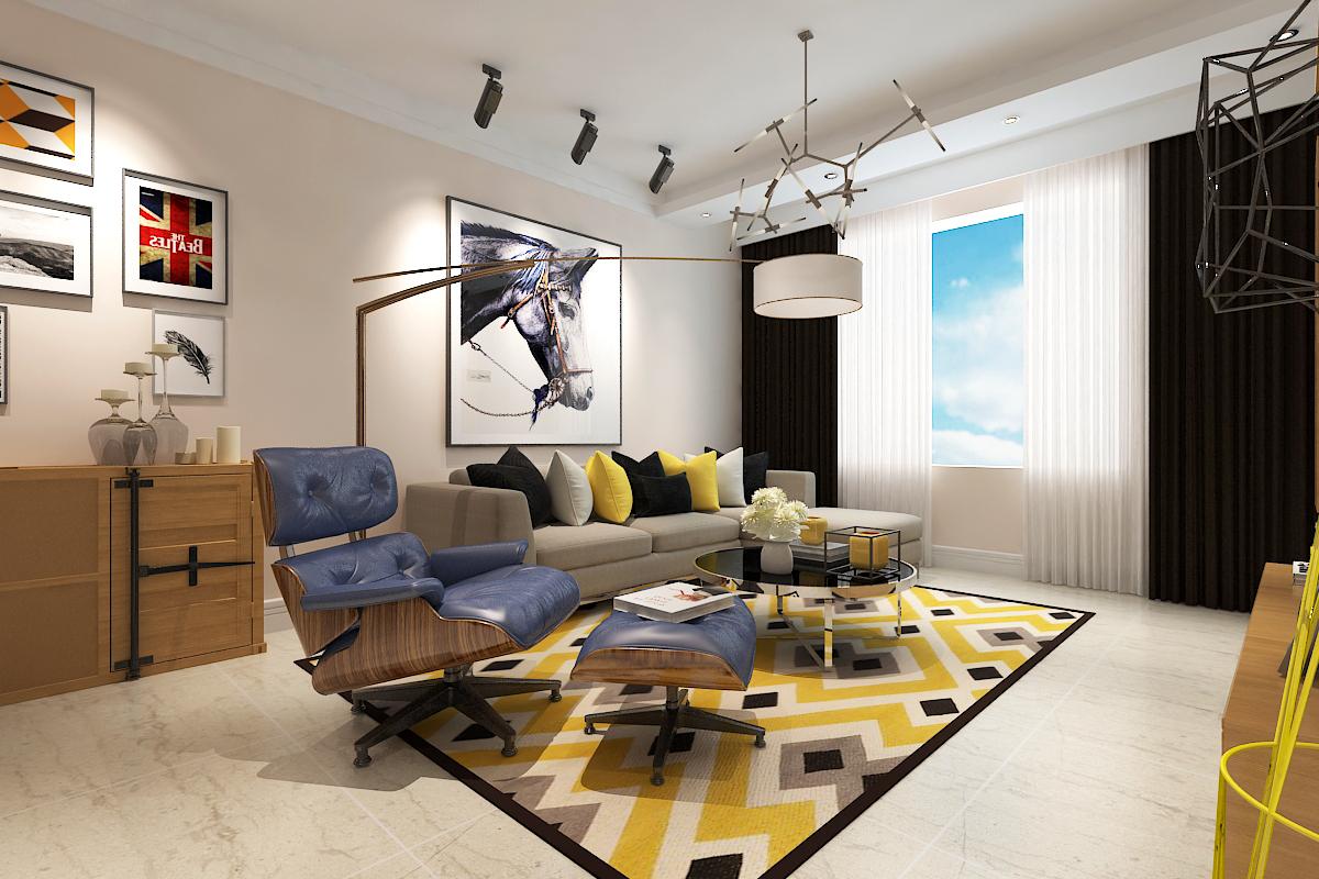 欧式 三居 简约 小资 卧室图片来自晋级装饰官方在保利大都会115北欧风格的分享