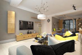欧式 三居 简约 小资 客厅图片来自晋级装饰官方在保利大都会115北欧风格的分享