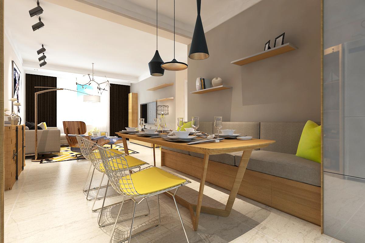 欧式 三居 简约 小资 餐厅图片来自晋级装饰官方在保利大都会115北欧风格的分享