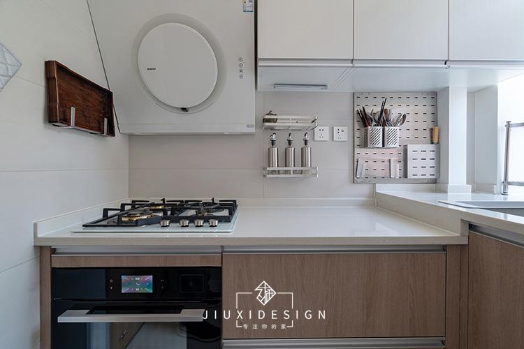 收纳 80后 旧房改造 小户型 厨房图片来自久栖设计在利用原木白墙打造淡雅的混搭风的分享