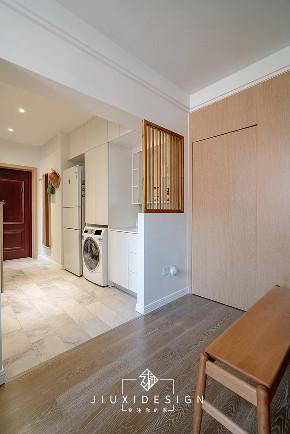 收纳 80后 旧房改造 小户型 玄关图片来自久栖设计在利用原木白墙打造淡雅的混搭风的分享