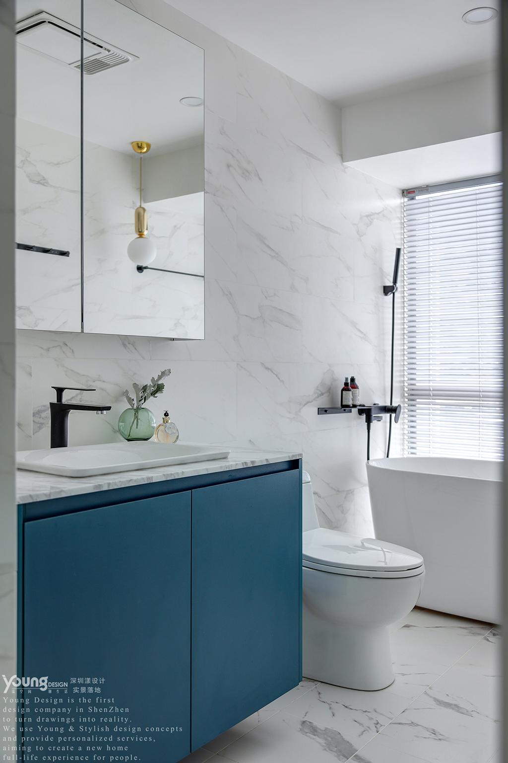 简约 混搭 白领 收纳 旧房改造 80后 小资 卫生间图片来自漾设计在Young新作 | 法式轻奢风来袭!的分享