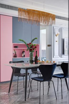 简约 混搭 白领 收纳 旧房改造 80后 小资 餐厅图片来自漾设计在Young新作 | 法式轻奢风来袭!的分享
