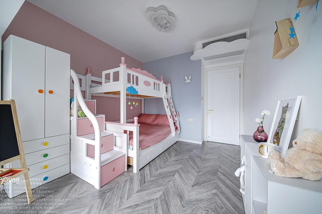 简约 混搭 白领 收纳 旧房改造 80后 小资 儿童房图片来自漾设计在Young新作 | 法式轻奢风来袭!的分享