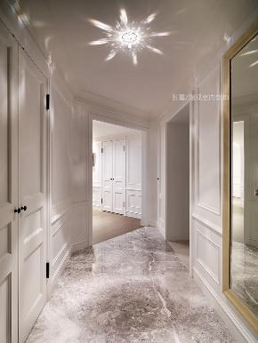 张馨 瀚观 室内设计 装修 装饰 玄关图片来自张馨/瀚观室内装饰在30年老屋,钻石格局的美式典雅的分享