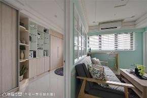 装修设计 装修完成 美式风格 书房图片来自幸福空间在56平,小宅魔法 新婚甜蜜居的分享
