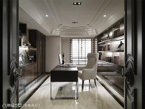 装修设计 装修完成 新古典 奢华风格 书房图片来自幸福空间在212平,古典  奢华对称美学的分享