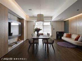 装修完成 装修设计 休闲多元 现代简约 餐厅图片来自幸福空间在119平, 凝聚情感的休闲温馨宅的分享