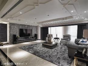 装修设计 装修完成 新古典 奢华风格 客厅图片来自幸福空间在212平,古典  奢华对称美学的分享
