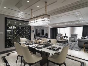 装修设计 装修完成 新古典 奢华风格 餐厅图片来自幸福空间在212平,古典  奢华对称美学的分享