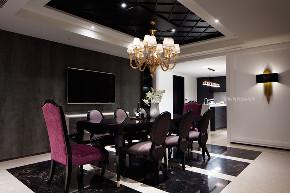 张馨 瀚观 室内设计 装饰 装修 餐厅图片来自张馨/瀚观室内装饰在380㎡,色彩斑斓的大器之作的分享