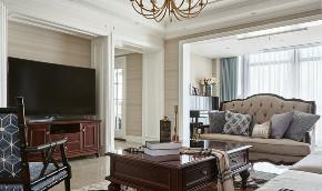 美式 复式 客厅图片来自知贤整体家装在新城相宜璟庭的分享