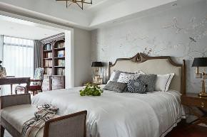美式 复式 卧室图片来自知贤整体家装在新城相宜璟庭的分享