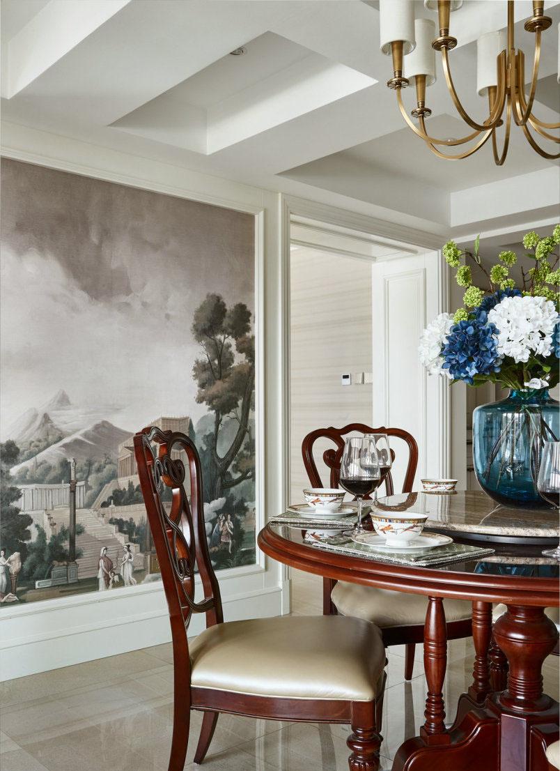 美式 复式 餐厅图片来自知贤整体家装在新城相宜璟庭的分享