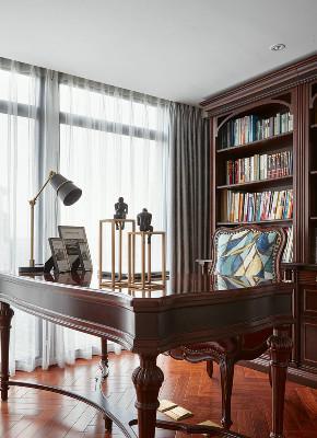 美式 复式 书房图片来自知贤整体家装在新城相宜璟庭的分享