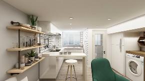 简约 白领 复式 厨房图片来自知贤整体家装在合景峰汇的分享