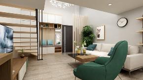 简约 白领 复式 客厅图片来自知贤整体家装在合景峰汇的分享