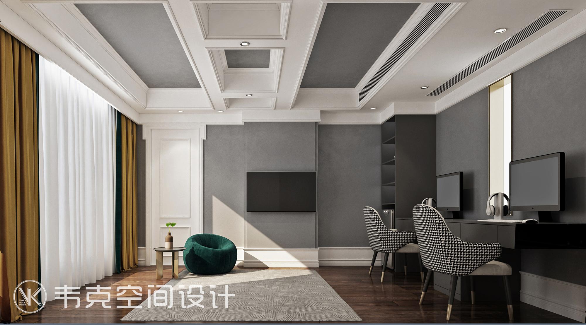 """书房图片来自韦克空间设计在韦克丨放慢脚步,享受""""轻""""生活的分享"""