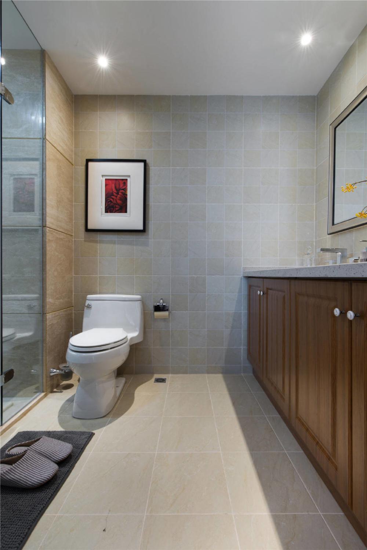 混搭 美式 轻奢 卫生间图片来自知贤整体家装在圣约翰名邸的分享