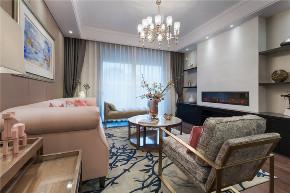 混搭 美式 轻奢 客厅图片来自知贤整体家装在圣约翰名邸的分享