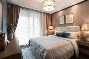 混搭 美式 轻奢 卧室图片来自知贤整体家装在圣约翰名邸的分享