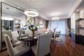 混搭 美式 轻奢 餐厅图片来自知贤整体家装在圣约翰名邸的分享