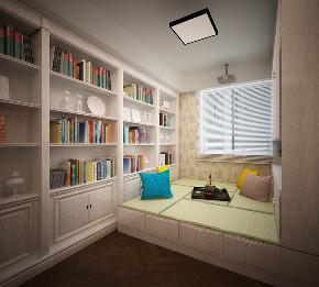 简约 美式 书房图片来自知贤整体家装在舒城苑的分享