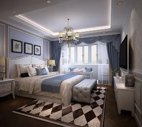 简约 美式 卧室图片来自知贤整体家装在舒城苑的分享