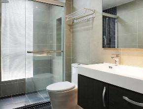 简约 现代 复式 卫生间图片来自知贤整体家装在富竹小区的分享