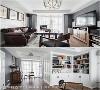 起居室  规划整面收纳柜提供屋主收藏最爱的红酒及茶罐,更配置大面长桌及娱乐设备,创造休闲放松的舒适空间。