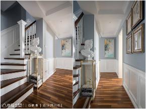 装修设计 装修完成 上海映象 上海装修 星啊 陈子欣 美式风格 幸福空间 楼梯图片来自幸福空间在179平,简约美式复古宅的分享