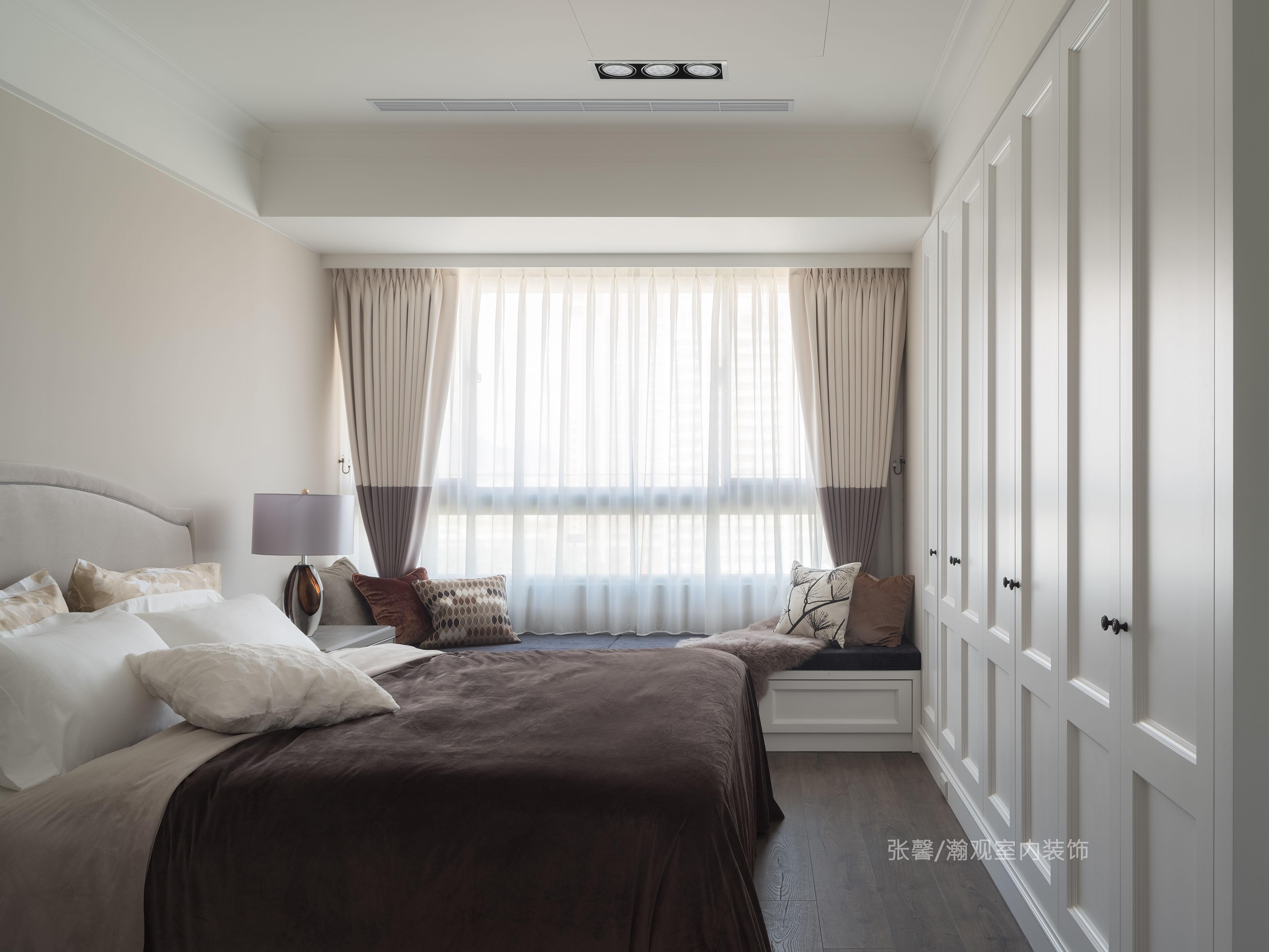张馨 瀚观 室内设计 装修 装饰 卧室图片来自张馨/瀚观室内装饰在143㎡,金融业主管的舒心美宅的分享