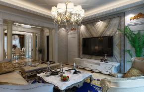 欧式 四居 客厅图片来自知贤整体家装在理想丶康城一品的分享