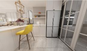 简约 美式 复式 厨房图片来自知贤整体家装在绿地天呈的分享