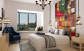 简约 北欧 卧室图片来自知贤整体家装在新高苑二期的分享