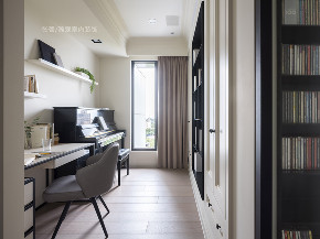 张馨 瀚观 室内设计 装修 装饰 书房图片来自张馨/瀚观室内装饰在小平数之黑白琴键的从容生活的分享