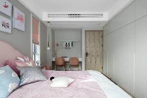 简约 三居 卧室图片来自知贤整体家装在佳兆业的分享