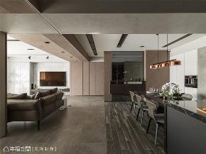 装修设计 装修完成 现代风格 餐厅图片来自幸福空间在198平,大气质调温馨宅的分享