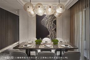 装修设计 装修完成 现代风格 餐厅图片来自幸福空间在205平,微奢美学渲染一室高雅的分享