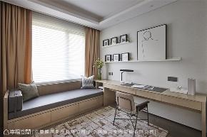 装修设计 装修完成 现代风格 书房图片来自幸福空间在205平,微奢美学渲染一室高雅的分享