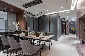 装修设计 装修完成 现代风格 餐厅图片来自幸福空间在132平, 朗阔大气品味宅的分享