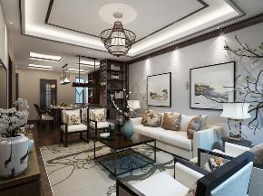 中式 复式 客厅图片来自知贤整体家装在香溢璟庭复式的分享